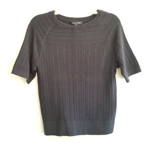 Brooks Brothers Navy Short Sleeve Shell Sweater
